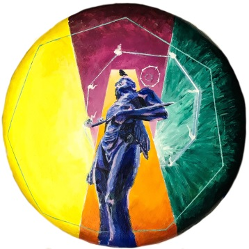 "Massasoit, 2017 21""Circle Acrylic on Canvas"