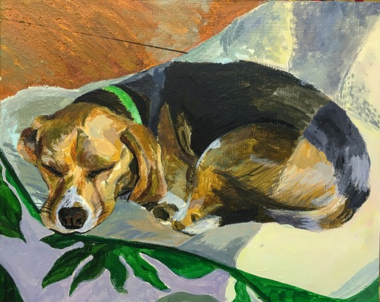"Copper, 2017 Acrylic on Panel, 7""x5"""